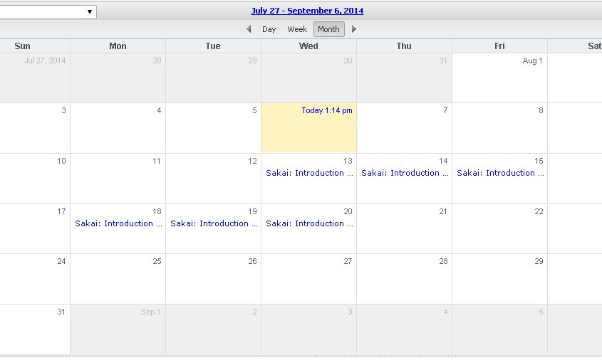 View Courses in a Calendar
