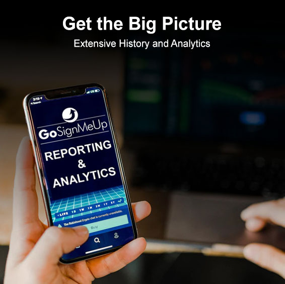 Click to learn more about reporting and analytics!